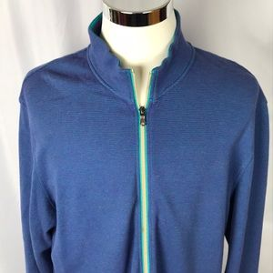 Robert Graham XXL full zip collared sweatshirt